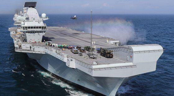 英媒:英国将向韩国提供伊丽莎白女王级航母技术