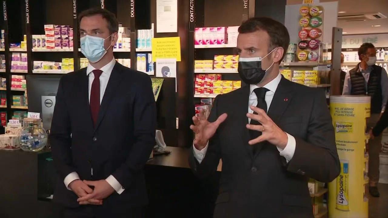 法国总统马克龙:应不分周末和节假日的进行新冠疫苗接种工作