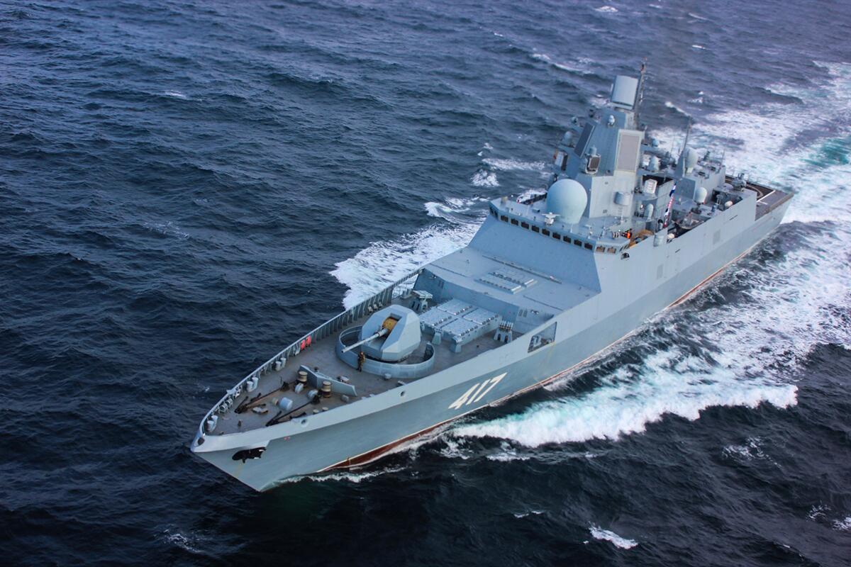 俄开始量产新型130mm口径舰炮 最高射速可达30发每分