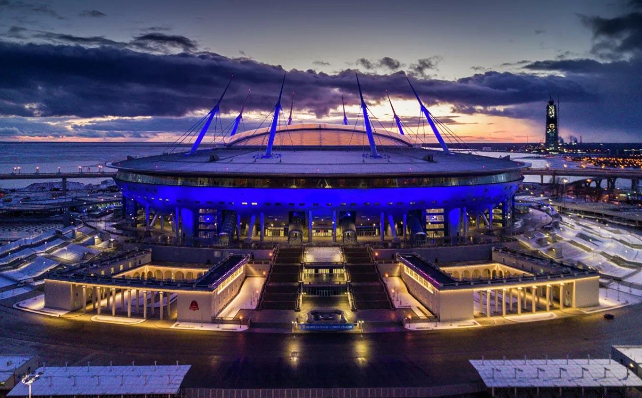 △圣彼得堡舉行比賽的體育場(圖片來源:當地媒體)