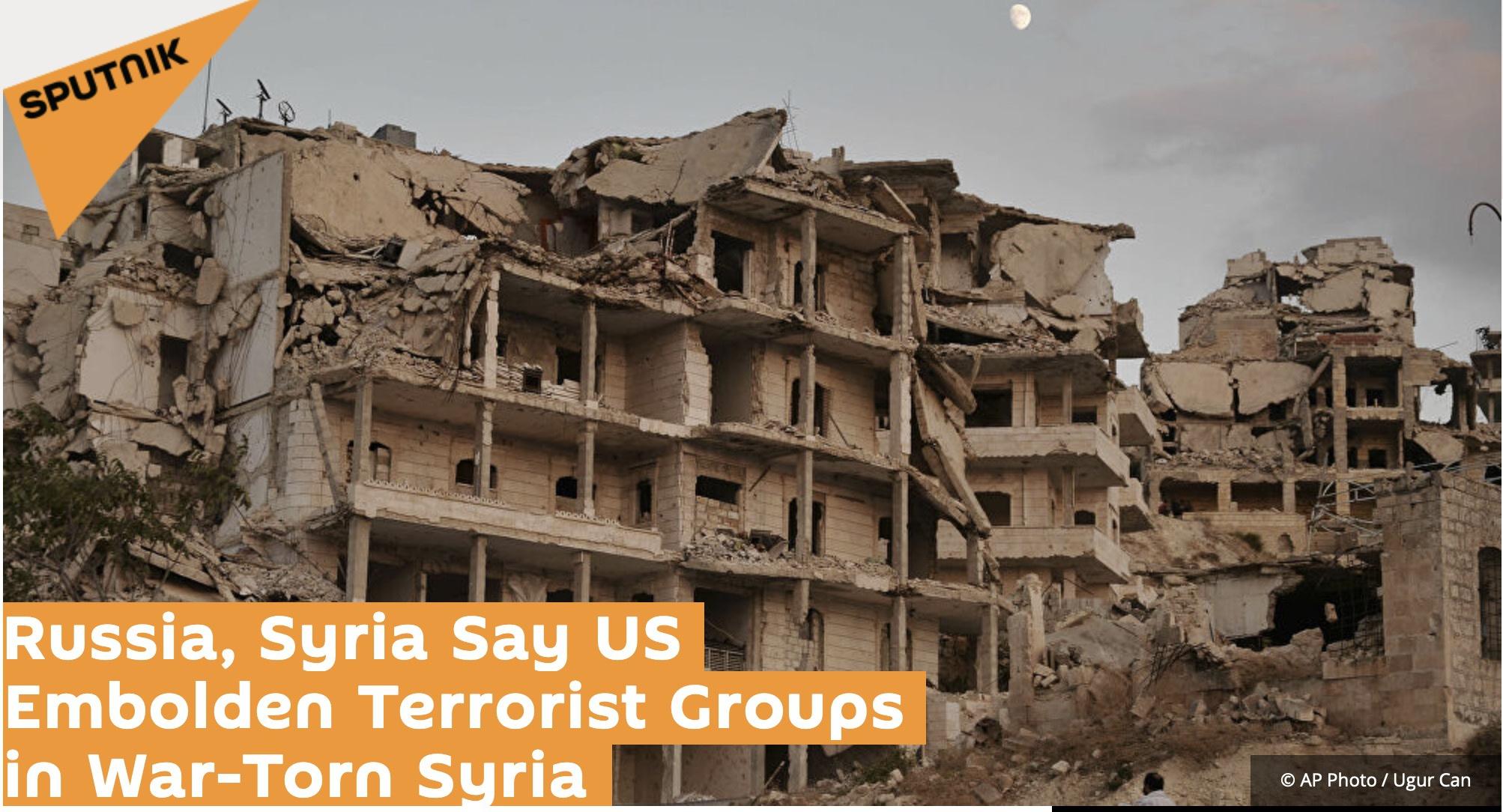 俄叙发表联合声明,谴责美国助长叙利亚地区恐怖主义活动