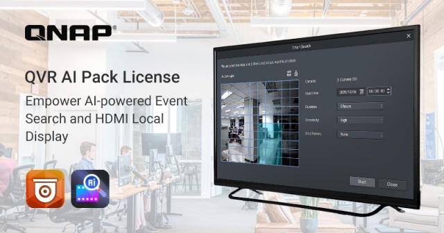 威联通推出QVR AI Pack 授权 提供智能AI录像文件搜索