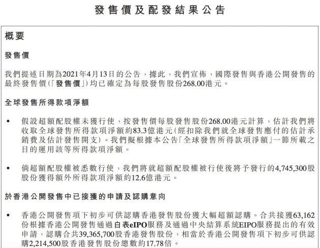 携程香港IPO公开发售获17.8倍超额认购 预计4月19日挂牌上市