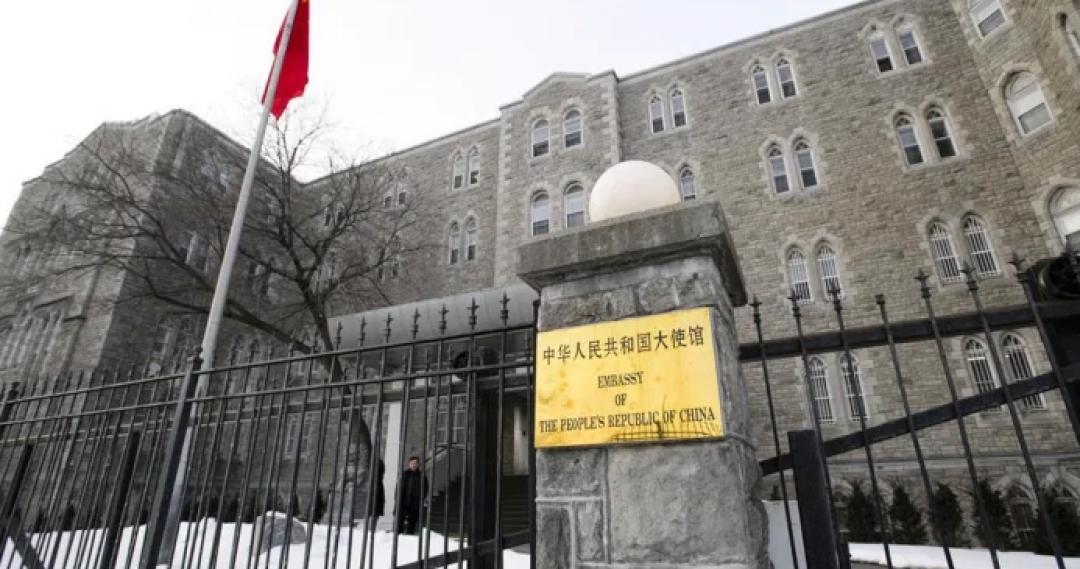 【独家】中国驻加拿大使领馆频遭滋扰涂鸦,加方竟然默许纵容!