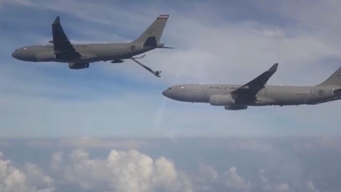 △空客A330多用途运输机(图片来自于《联合早报》)