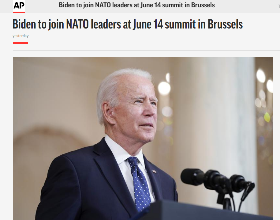 开封法治网美媒:拜登将赴欧出席北约领导人峰会 讨论中俄议题