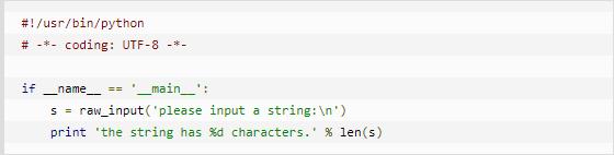 云计算开发:Python练习实例-求一个字符串的长度