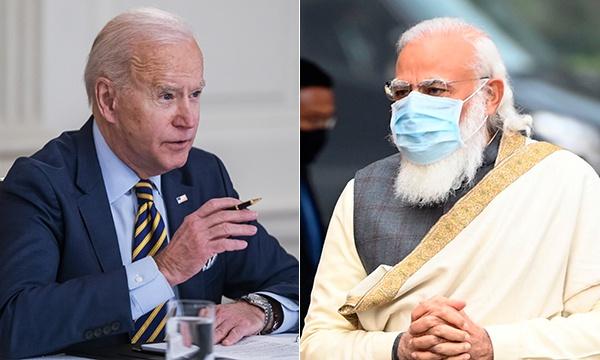 拜登与莫迪通话,表示美印两国将在抗疫中紧密合作