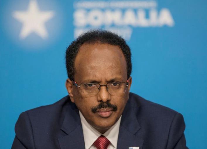 △索马里总统穆罕默德·阿卜杜拉希·穆罕默德(图片来源:路透社)