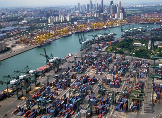 △新加坡港口(图片来源:新加坡港务集团)