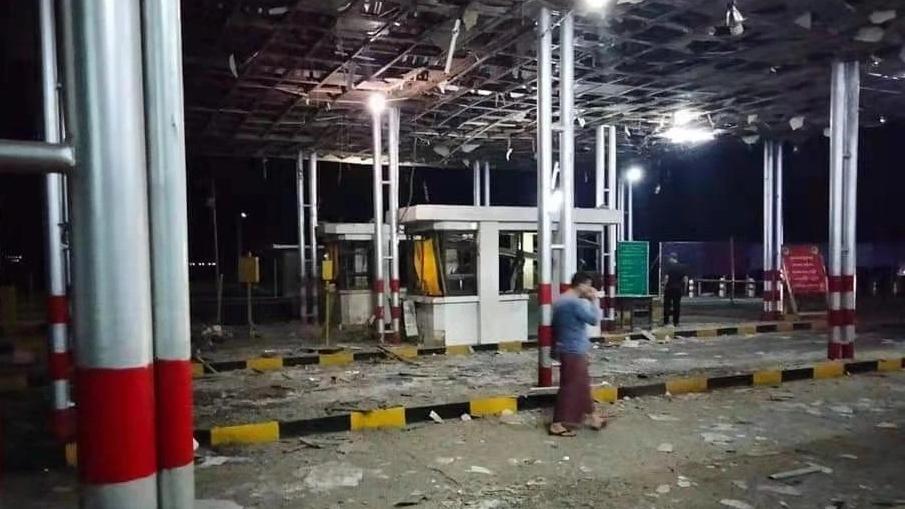 缅甸木姐至曼德勒公路一收费站发生剧烈爆炸 致3人受伤