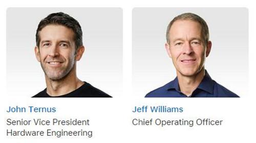苹果硬件工程高级副总裁与COO