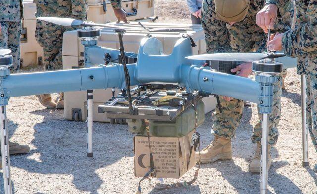 美军终于测试无人机战场送货 美媒:像落后的追赶者