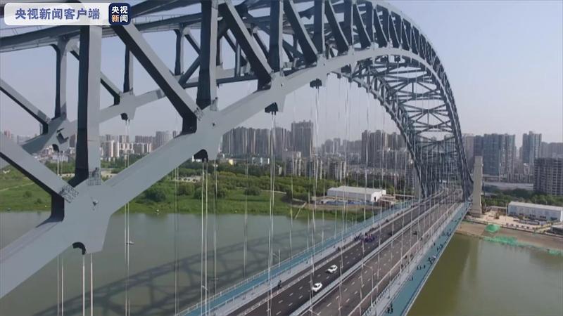武汉汉江湾桥正式通车 系汉江最宽和跨度最大桥梁