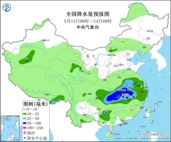 新一轮较强降雨将袭中东部 江南多地或现今年首个高温日
