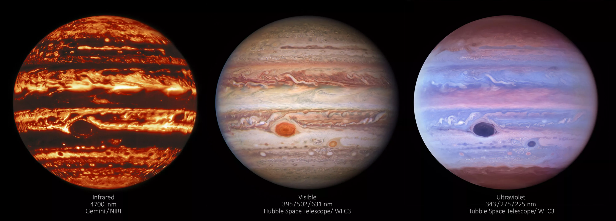 """新太空望远镜图组展示木星""""情绪环"""""""