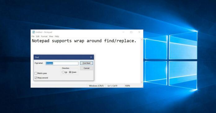 Windows 10记事本的更新将与两个大功能更新联系在一起