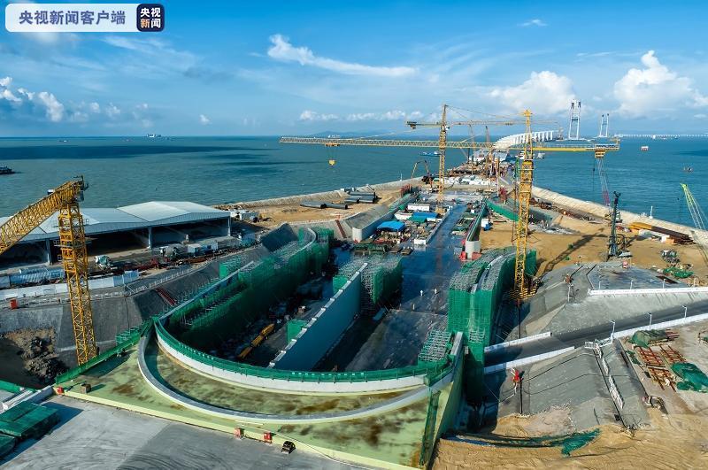 深中通道西人工岛主线现浇隧道主体结构完工 计划2024年建成通车