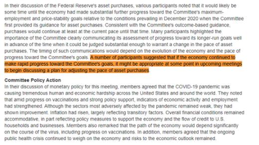 美联储会议纪要:部分委员建议考虑讨论缩减QE