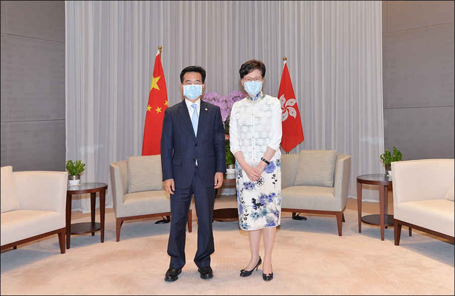 缪建民拜会香港特别行政区行政长官林郑月娥