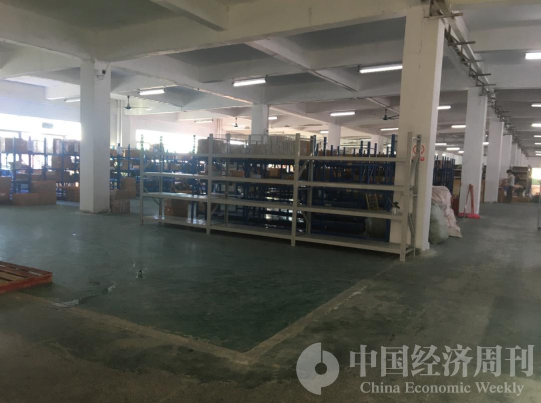 深圳基德科技公司的工厂已经停工,仓库正在打包最后一批产品 《中国经济周刊》记者邓雅蔓 | 摄