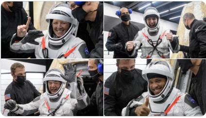 顺利出仓的4名宇航员 图自NASA推特账号