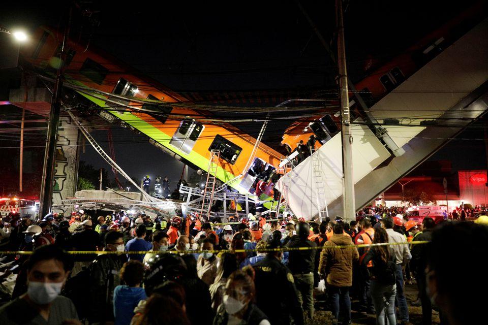 """""""可怕的悲剧!""""墨西哥城地铁列车脱轨事故已致15死70伤"""