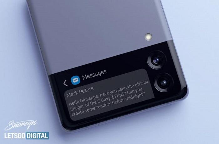 双拼配色:设计师分享Galaxy Z Flip 3折叠屏新机渲染图