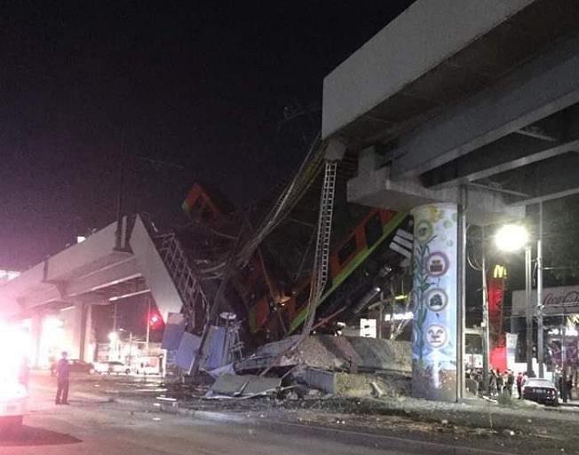 持续更新丨墨西哥首都地铁12号线发生垮塌事故 已致15死70伤