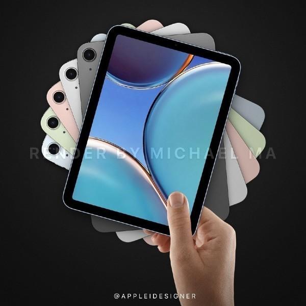iPad mini 6渲染图