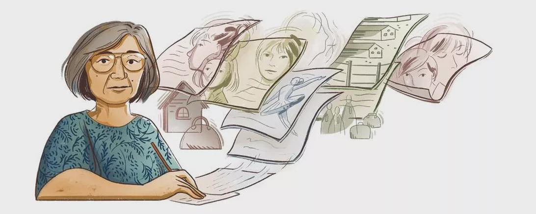 Google涂鸦纪念日裔美国作家山本久惠