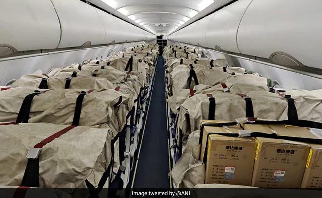 300台来自从中国香港运往印度的制氧机 图源:新德里电视台