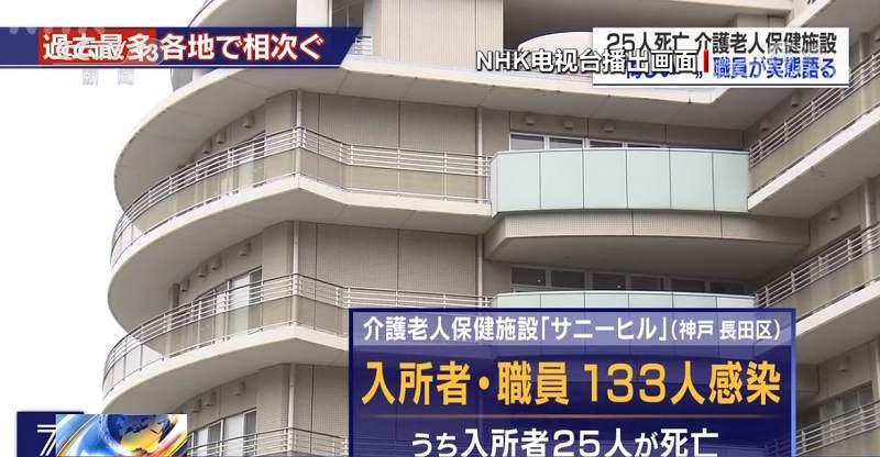 △日本神户一发生聚集性感染的养老院