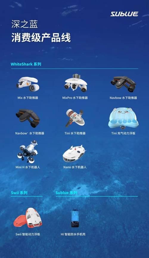 Sublue WhiteShark Navbow新推出 创新水下驾驶控制技术