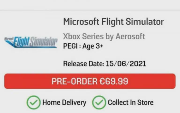 微软飞行模拟器游戏可能在下周登陆Xbox Series X
