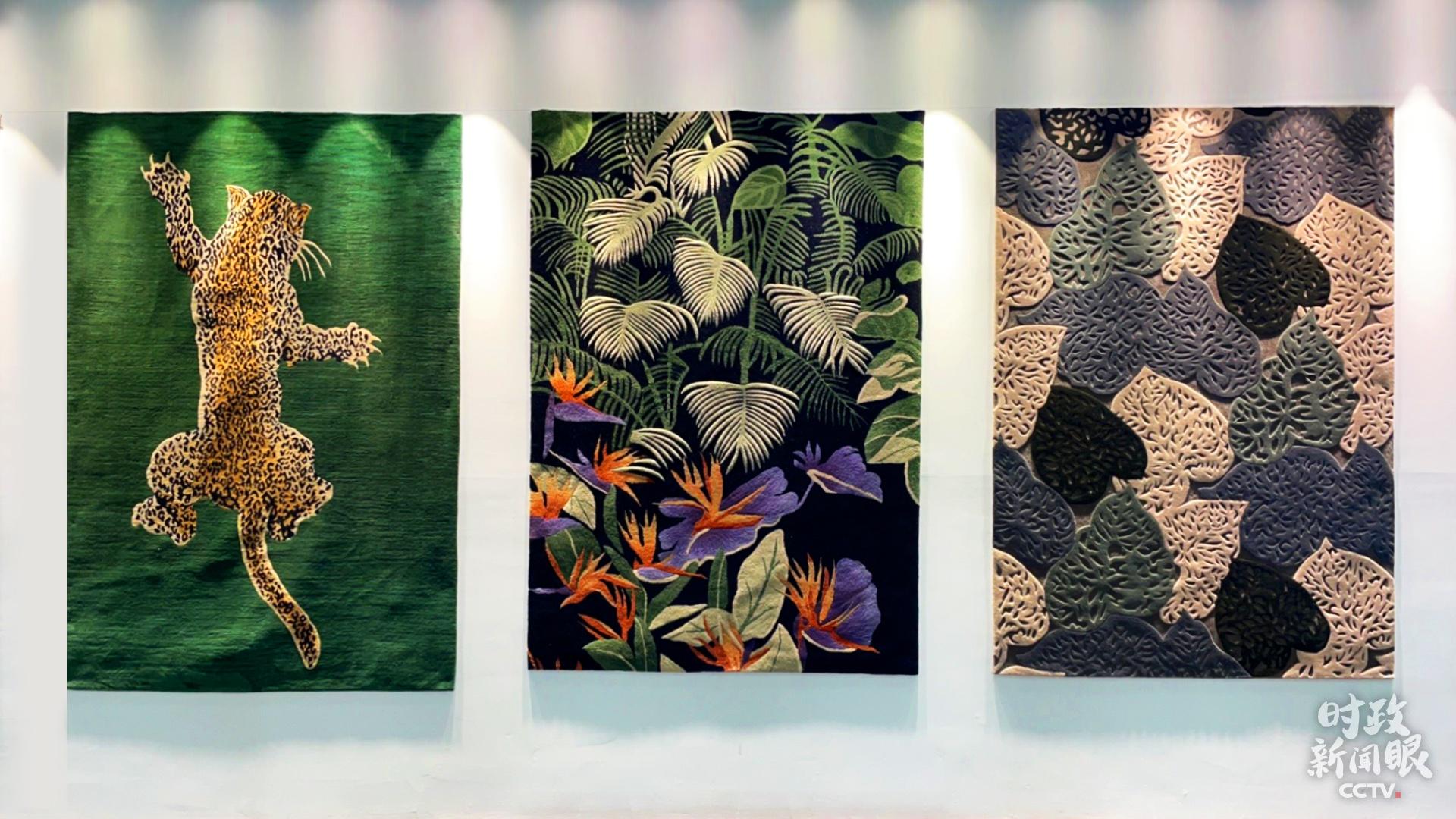△藏毯作品(总台央广记者潘毅拍摄)
