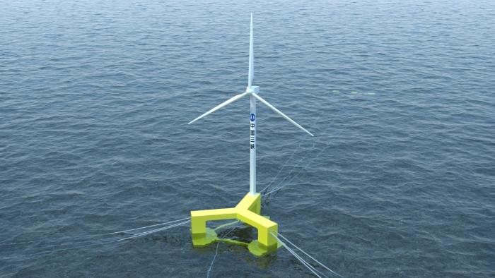 漂浮式风机效果图
