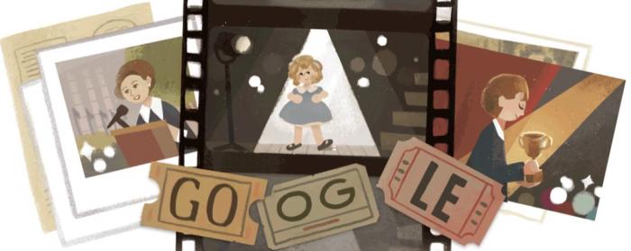 Google涂鸦纪念美国偶像:儿童电影明星秀兰·邓波儿