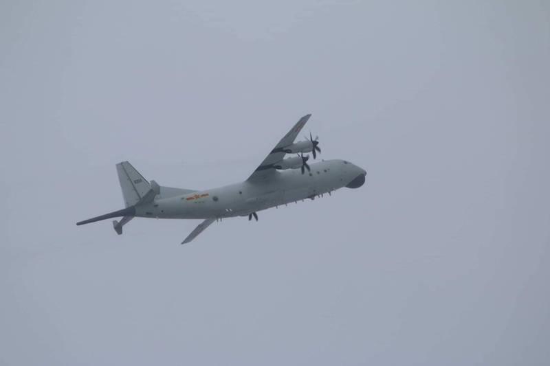 台媒紧盯:相隔9天 解放军一架运-8反潜机昨日进入台西南空域