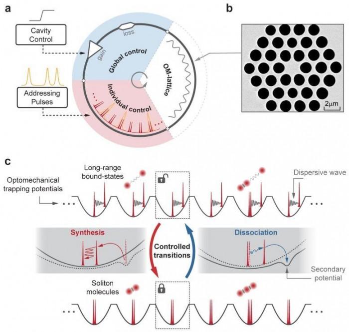 科学家打造平行光孤子反应器 可控制观察孤子分子动态