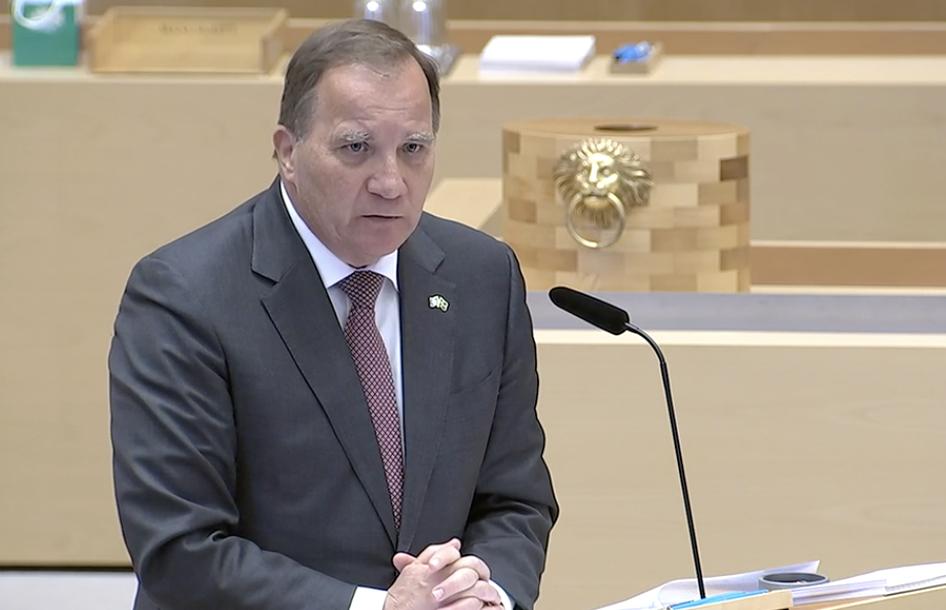 瑞典将对首相进行不信任投票