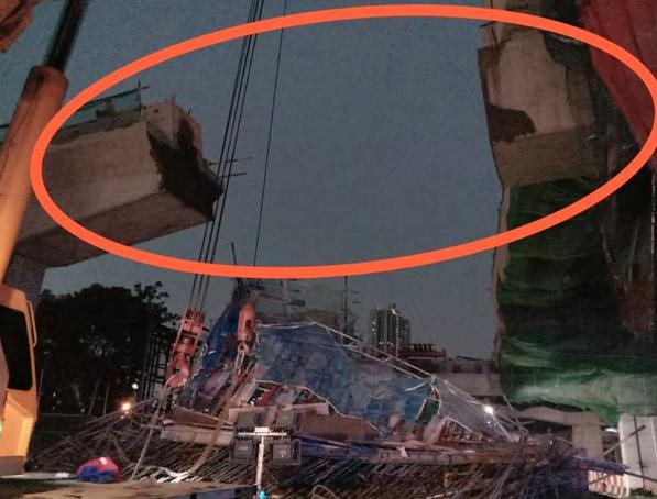 马来西亚吉隆坡附近一处施工中的高架桥发生坍塌事故