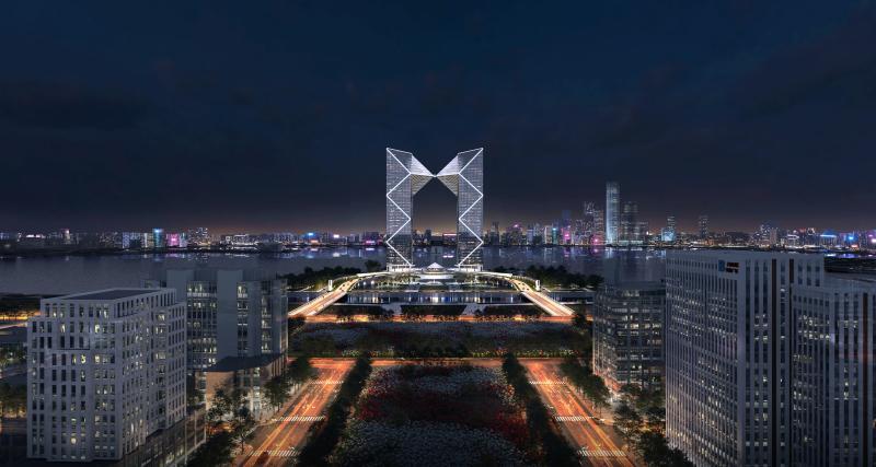 200米超高层双子塔楼开工,建成大型城市综合体