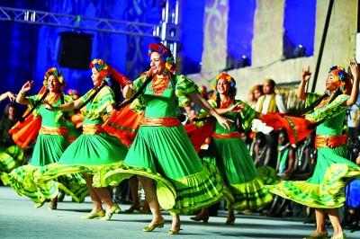 第八届埃及国际鼓乐与传统艺术节闭幕式