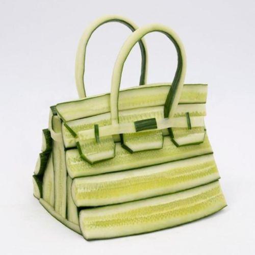 爱马仕携手艺术家Ben Denzer,设计以蔬果为原料铂金包