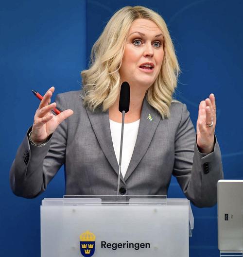 △瑞典社会事务大臣莱娜·哈伦格伦