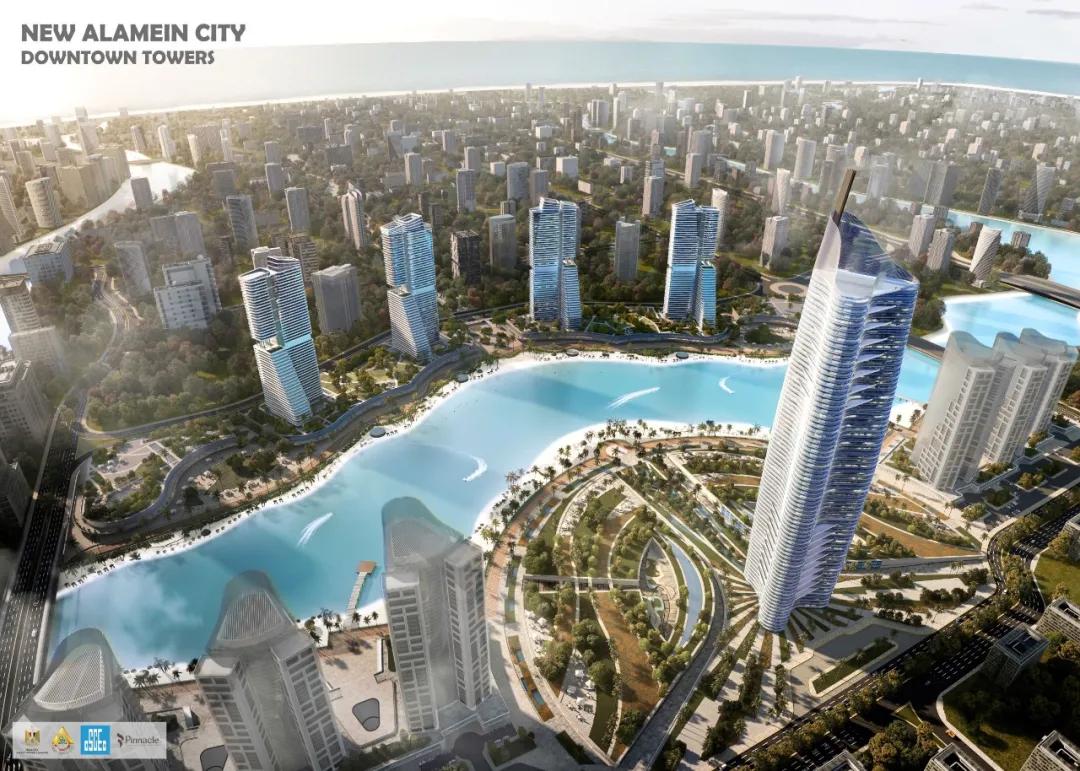 阿拉曼新城超高综合体项目开工,为中企在埃及最大现汇项目