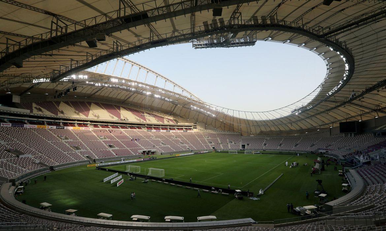 △图为卡塔尔多哈哈利法体育场(是承办2022年世界杯的8座球场之一)