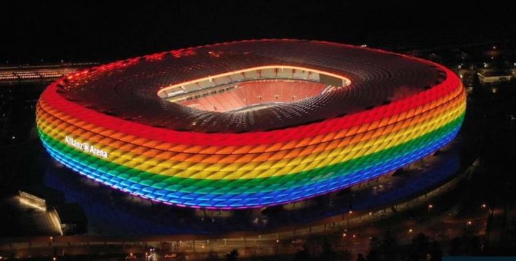 欧足联拒绝慕尼黑球场点亮彩虹色,称他们是政治&宗教中立组织