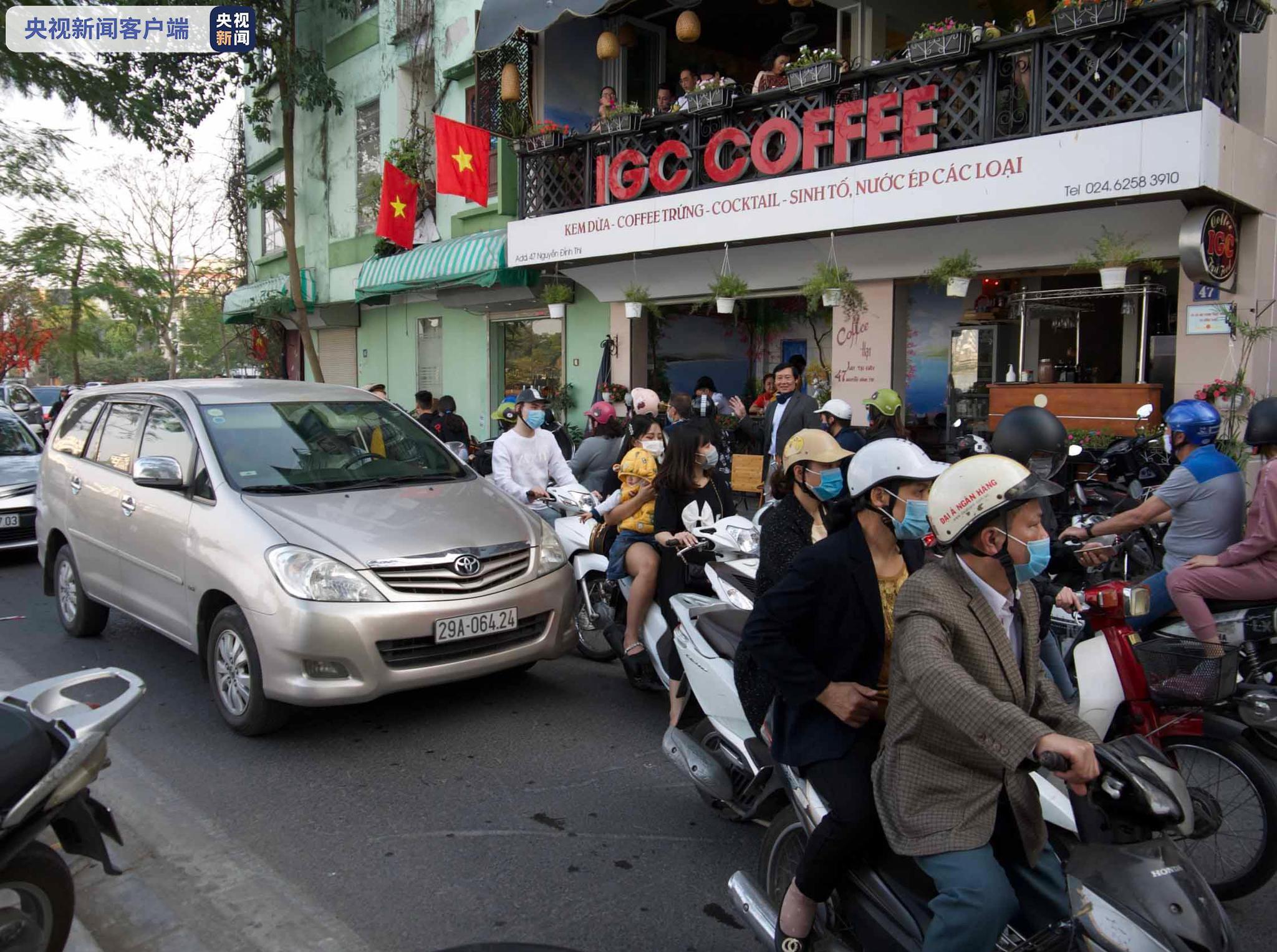 越南河内重新开放理发店和室内餐厅等民生服务行业